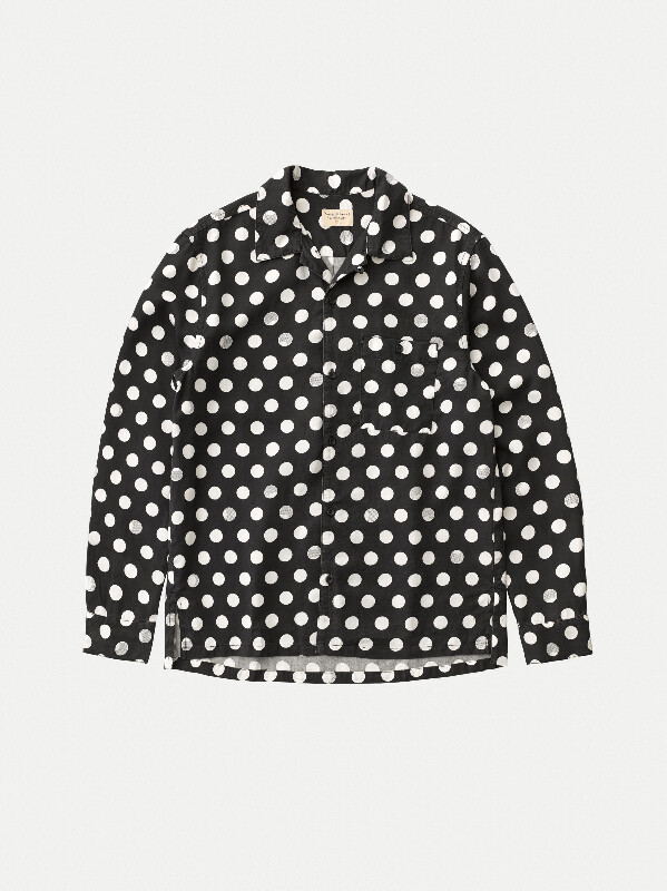 Vidar Dots Black long-sleeved shirts