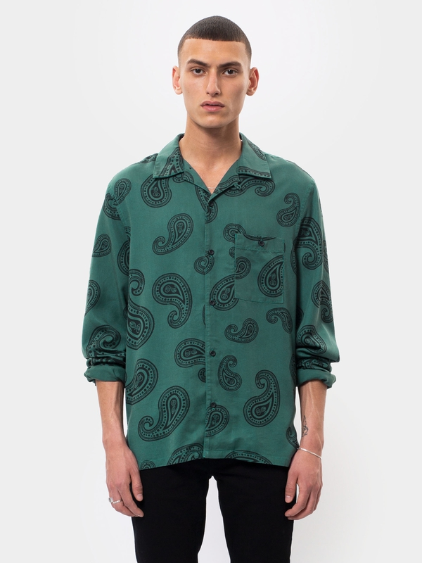 Vidar Paisley Kattegat long-sleeved shirts