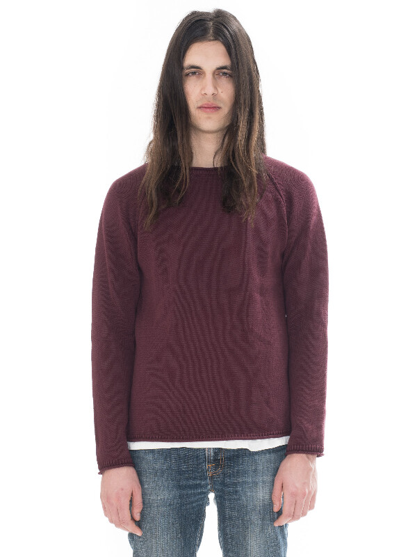 Vladimir Cotton Solid Plum knits
