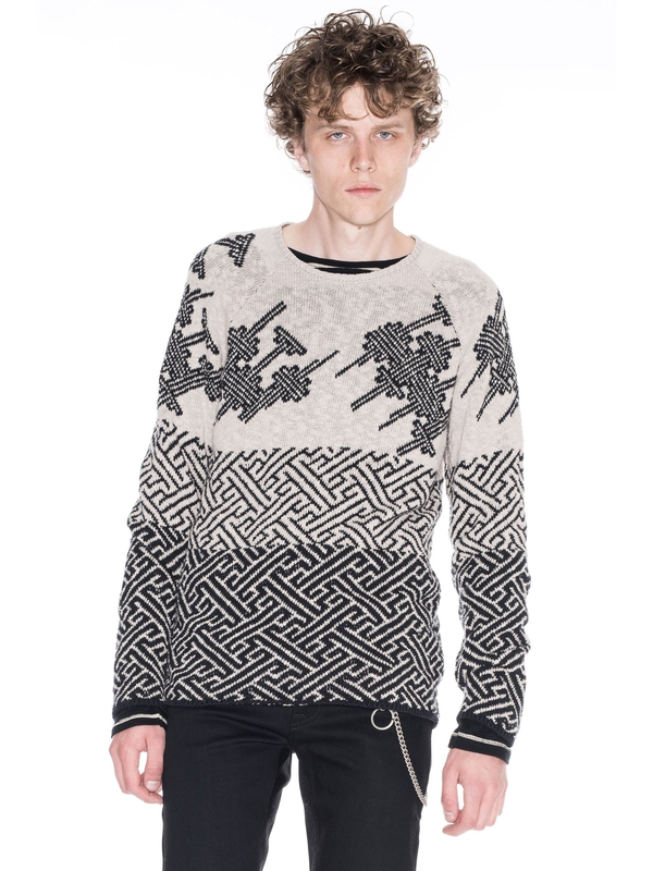 Vladimir Mixed Graphic Sand knits