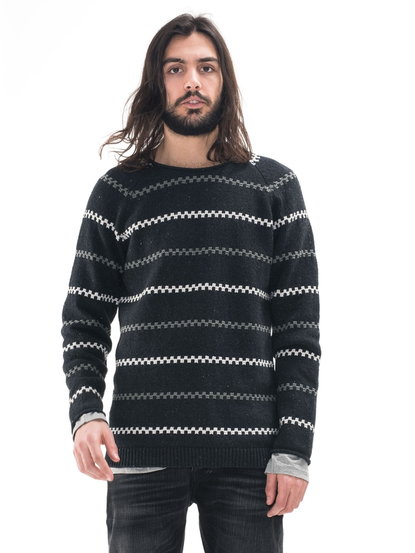 Vladimir Striped Antracite knits
