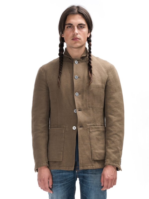 Walker Linen Jkt Brown jackets