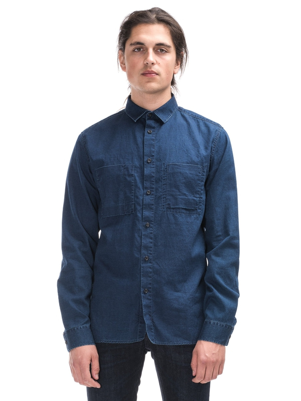 Warren Dark Blue Indigo shirts