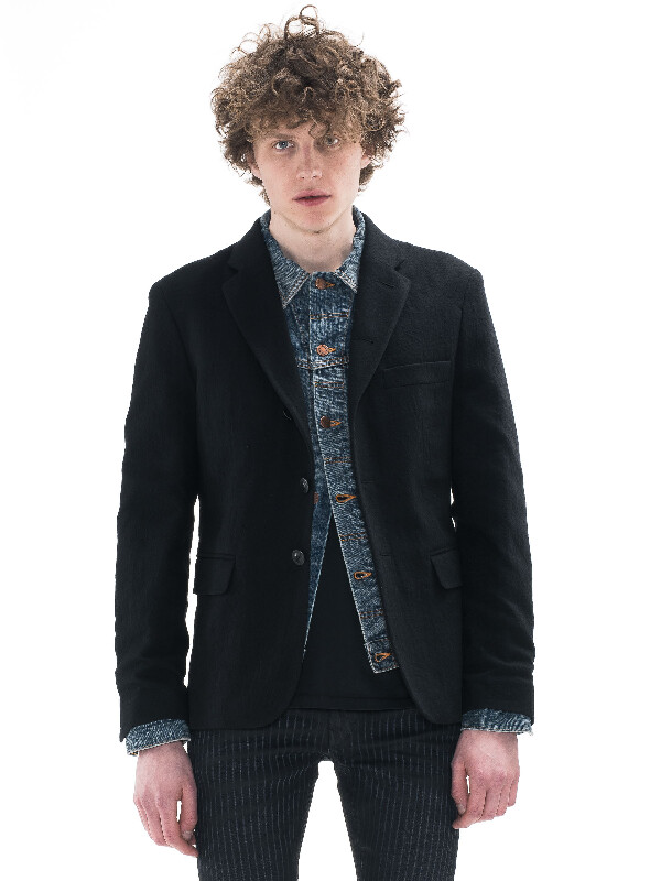Wilhelm Washed Wool Black jackets