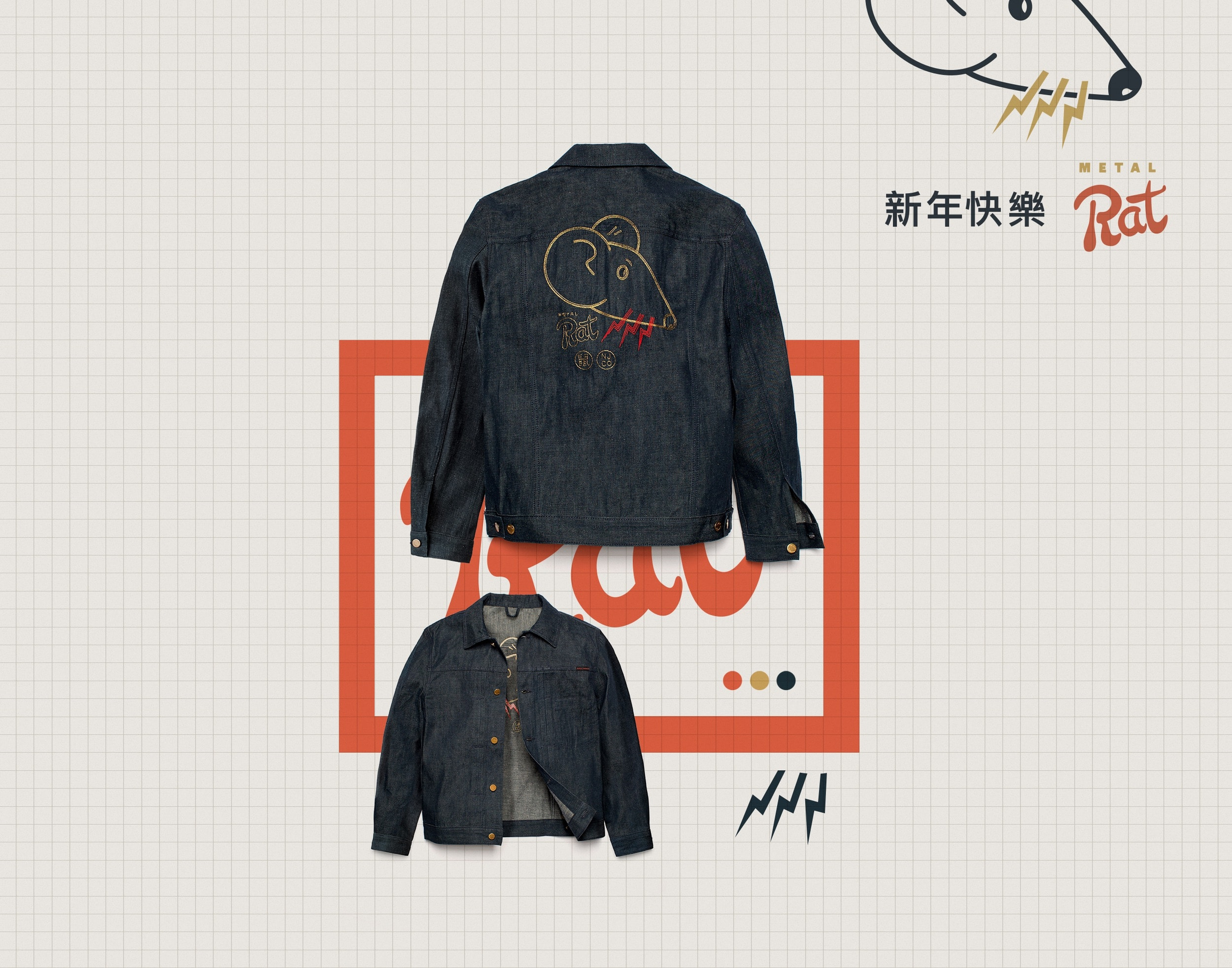 Year of the rat denim jacket
