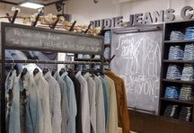 Nudie Jeans Repair Shop Namba Parks, Japan
