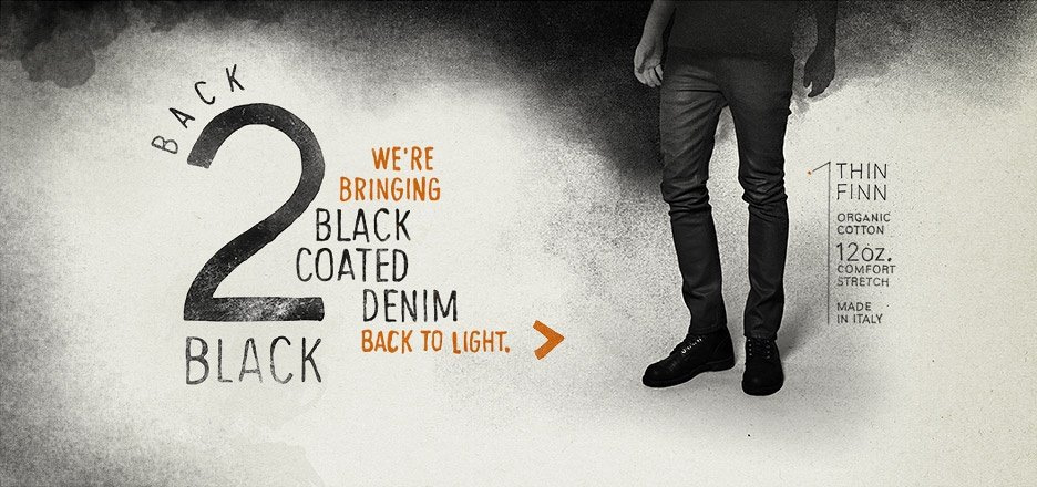 Black Coated denim is back