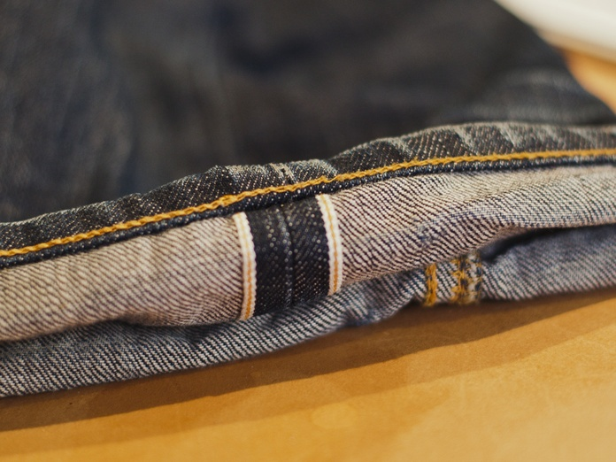 The real deal: Selvage denim, check. Chain stitch, check. Roping effect, check.