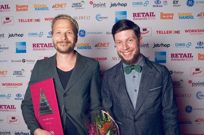 Co-founder Joakim & Retail Coordinator Mattias, proud winners. And happy.