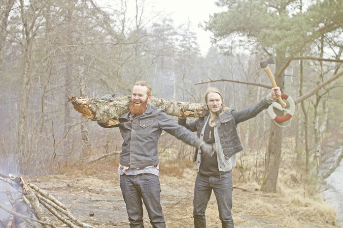 Joyful wood gatherers.