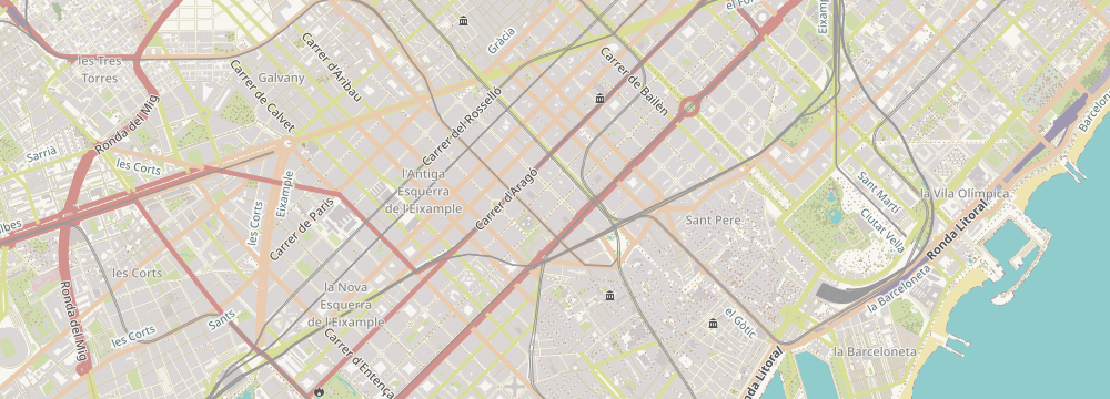 Map of store location at Rambla de Catalunya  33