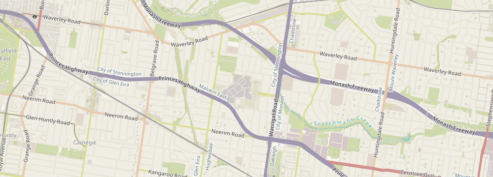 Map of store location at 1341 Dandenong Road